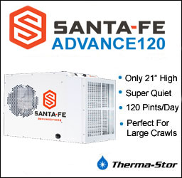 Check out the new Santa Fe Advance dehumidifier