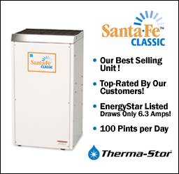 Check out our bestselling Santa Fe Classic dehumidifier